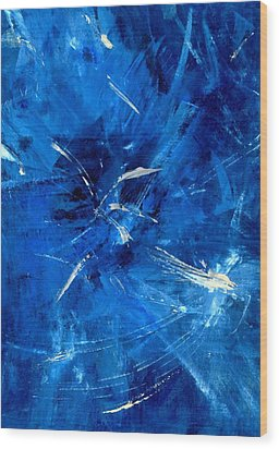 Wood Print featuring the painting The Blues by Carolyn Repka