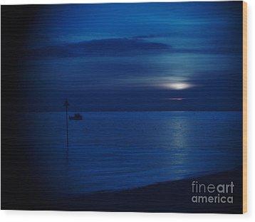 The Blues Wood Print by Vicki Spindler