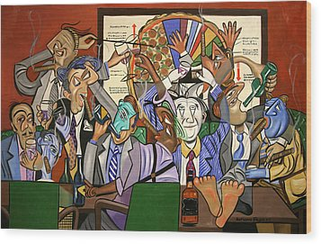 The Board Room Wood Print by Anthony Falbo