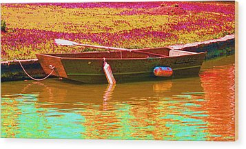 The Boat Wood Print by Barbara McDevitt