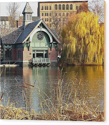 The Boat House Wood Print by Marvin Washington