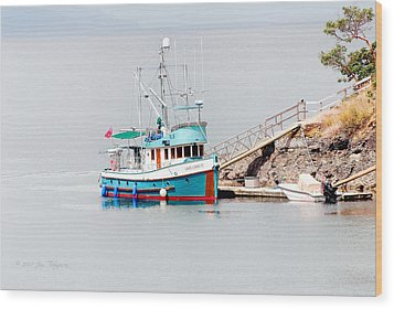 Wood Print featuring the photograph The Boat by Jim Thompson