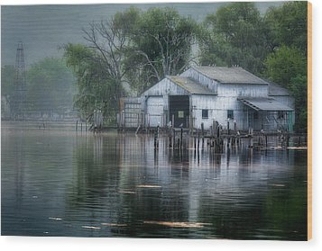 The Boathouse Wood Print by Bill Wakeley