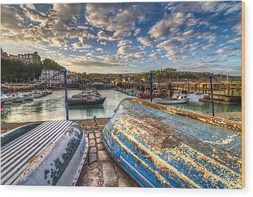 The Boats Of Folkestone Wood Print by Tim Stanley