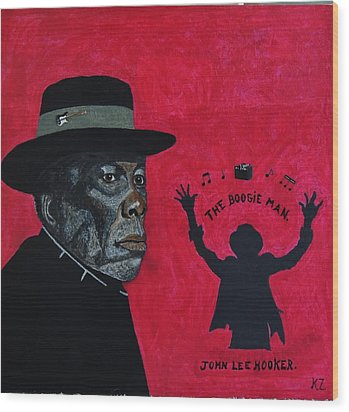 The Boogie Man.john Lee Hooker. Wood Print by Ken Zabel