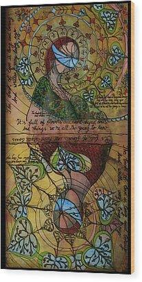 The Book Of Love - Part 1 Wood Print by Cornelia Tersanszki