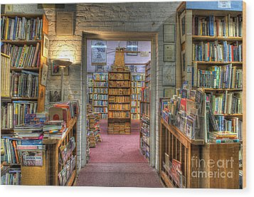 The Bookstore Wood Print