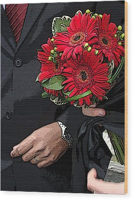 Wood Print featuring the photograph The Bouquet by Zinvolle Art