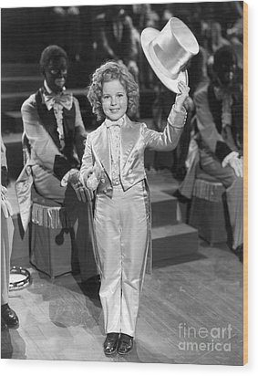 The Bowery Princess - Shirley Temple Wood Print by MMG Archives