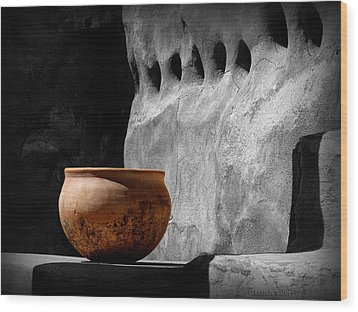 The Bowl Wood Print by Lucinda Walter