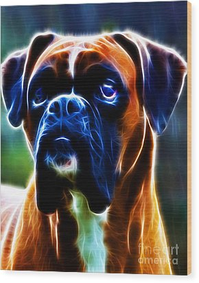 The Boxer - Electric Wood Print by Wingsdomain Art and Photography