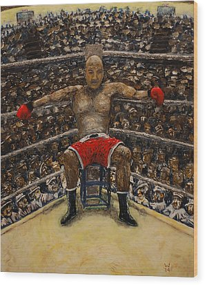 The Boxer Wood Print by Richard Wandell