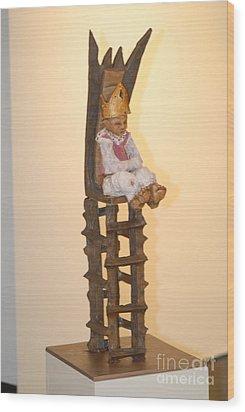 The Boy King Wood Print by Katie Thomas