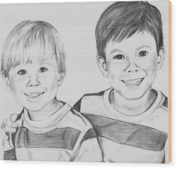 The Boys Wood Print