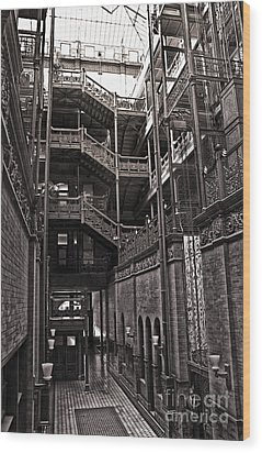The Bradbury Building Wood Print by Gregory Dyer
