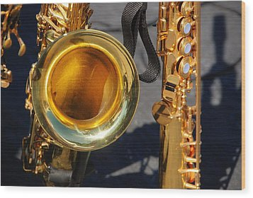 The Brass Section Wood Print by John Schneider