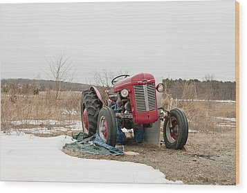 The Brave Little Tractor Wood Print by Eugene Bergeron