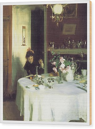 The Breakfast Table Wood Print by John Singer Sargent