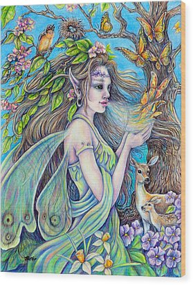 The Breath Of Spring Wood Print