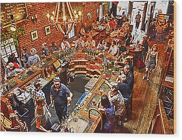 The Brick Store Pub Wood Print