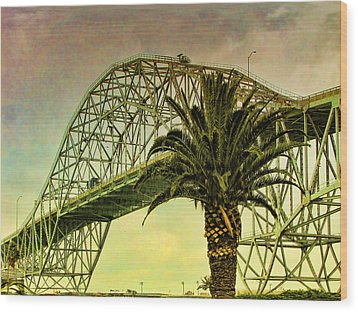 The Bridge As The Sun Breaks Through Wood Print by Wendy J St Christopher