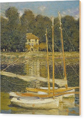 The Bridge At Argenteuil Wood Print by Claude Monet