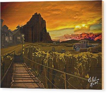 The Bridge Wood Print by Gerry Robins