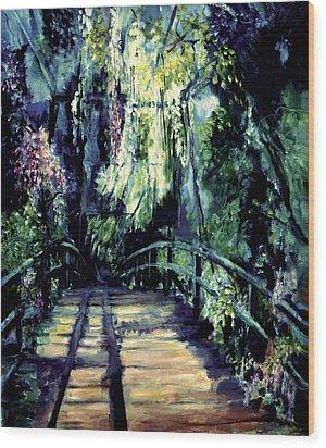The Bridge Wood Print by Shari Silvey