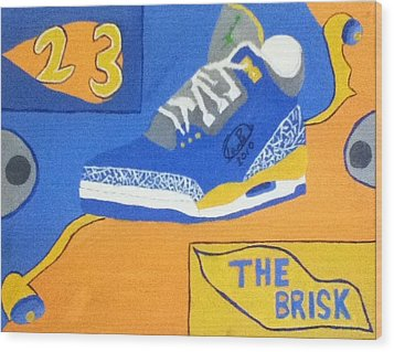 The Brisk Wood Print by Mj  Museum