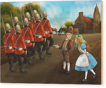 The British Soldiers Wood Print