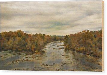 The Broad River Wood Print