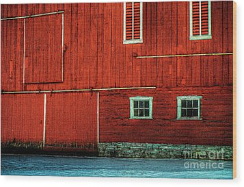 The Broad Side Of A Barn Wood Print by Lois Bryan