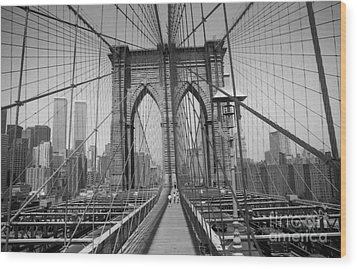 The Brooklyn Bridge Before Nine Eleven Wood Print