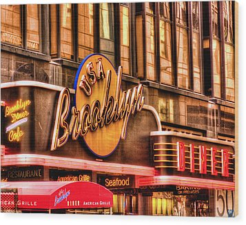 The Brooklyn Diner And Cafe 001 Wood Print