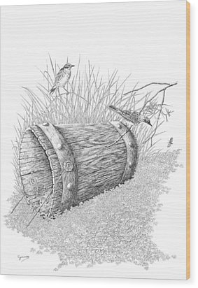 The Bucket Wood Print by Carl Genovese