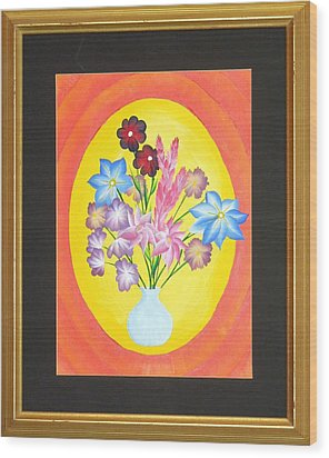 Wood Print featuring the painting The Bud Vase by Ron Davidson