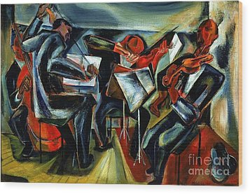 The Budapest String Quartet Wood Print by Pg Reproductions