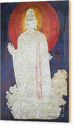Wood Print featuring the painting The Buddha's Light by Fei A