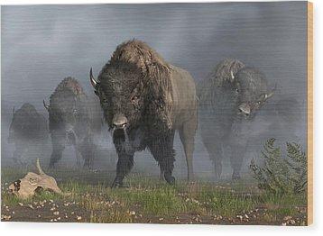 The Buffalo Vanguard Wood Print