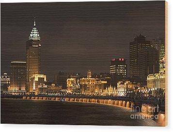 The Bund, Shanghai Wood Print by John Shaw