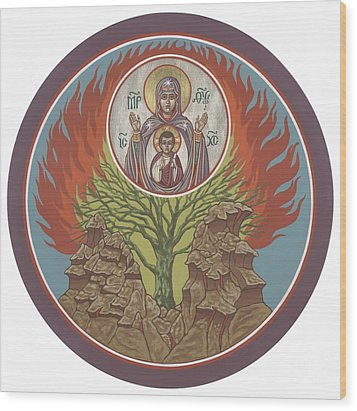 Wood Print featuring the painting The Burning Bush 249 by William Hart McNichols