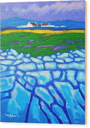 The Burren County Clare Ireland Wood Print by John  Nolan