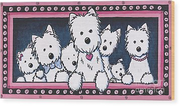 The Button Nose Gang Wood Print by Kim Niles