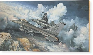 The Buzzard Boys From Aviano Wood Print by Randy Green