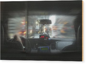 The Cab Ride Wood Print by Mike McGlothlen