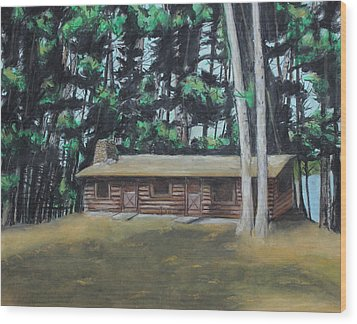 The Cabin Wood Print