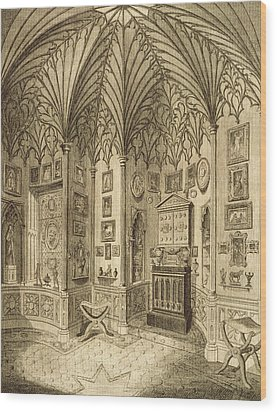 The Cabinet, Engraved By T. Morris Wood Print by English School