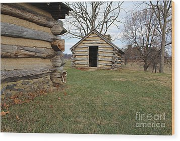 The Cabins Wood Print
