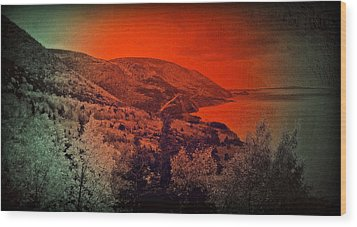 Wood Print featuring the digital art The Cabot Trail by Jason Lees