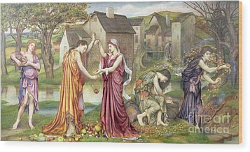 The Cadence Of Autumn Wood Print by Evelyn De Morgan